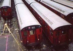NYCT IRT R36 Main Line 9542 at Corona Yard with World's Fair GE R36s 9725 & 9580 (R36 Coach) Tags: r36 nyct irt flushingline worldsfair stlouis queens coronayard 1964 1965