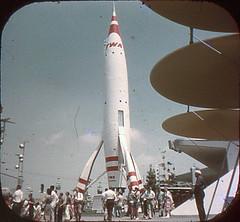 Tomorrowland Reel 2, #2a - TWA Rocket to the Moon (Tom Simpson) Tags: viewmaster slide vintage disney disneyland 1960s vintagedisney vintagedisneyland