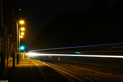 Pokesdown Night lights (Coolcats100) Tags: pokesdown night lights trails station canon 70d february 2017 coolcats100 train light dorset railway