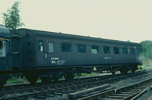 Former Maunsell open third ADS 083181 at Tenterden Town, K&ESR, in 1982