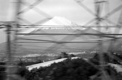 Mt. Fuji (jonmanjiro) Tags: leicamacroelmar90mmf40 neopan400 spd11 leicamp mtfuji 富士山 新幹線 bwfp autaut