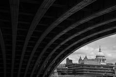 (mikeball1978) Tags: bridge england blackandwhite bw london thames unitedkingdom stpauls southbank gb dslr digitalrebel