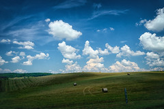 Clouds and Bales... Floyd County, Virginia (Michael Kline) Tags: august va floyd 2015