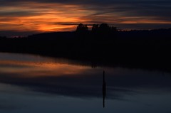 Sunset (careth@2012) Tags: light reflection nature silhouette night clouds reflections scenery view britishcolumbia scenic scene naturephotography