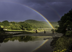 Trio Of Rainbows (acky904) Tags: bridge reflection canon river rainbow clark tintern wye riverwye atkinson unanimous challengeyouwinner canon6d challengefactory clarkatkinson clarkatkinsoncom