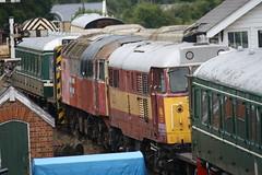 W55033 31255 47771_16.8.15 (runtheredline) Tags: preserved diesellocomotive brushtype4 brushtype2 br britishrail britishrailways class47 class31 47771 ews res dmu dieselmultipleunit 2015 colnevalleyrailway cvr 31255