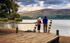 Luss Scotland (S Munir Photography) Tags: sky people water landscape bay scotland duck village view lochlomond luss