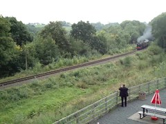 46100 'Royal Scot' approaching Hghley from Kidderminster (SVR). 16 September 2015 (ricsrailpics) Tags: uk movie shropshire svr severnvalleyrailway 2015 royalscot highley