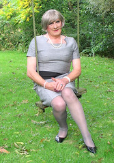 Greyboyswing-002 (fionaxxcd) Tags: nipples bob crossdressing bust tranny crossdresser stilettoes pearlnecklace trannie mtf m2f tansvestite greytights