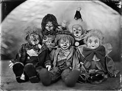 Clowns (Nagy Krisztian) Tags: wet glass clown negative collodion