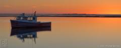 """North River Calm (16""""x40"""") (JMichaelSullivan) Tags: northriver marshfield massachusetts lobsterboat calm reflection sunrise nikon d800 100v 200v 300v 5f 10f 15f 400v 500v"""
