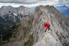 Ridge crawling (Dorian Tsai) Tags: canada mountains rockies hiking adventure climbing canmore scramble ladymacdonald