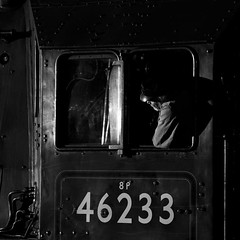Waiting the road (Arvor Photography) Tags: october track derbyshire transport driver railways steamlocomotive 2015 butterley duchessofsutherland midlandrailwaycentre 46233 swanwickjunction darylhutchinson arvorphotography