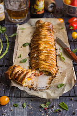 IMG_5792_exp-2 (Helena / Rico sin Azcar) Tags: cheese tomato ham basil puffpastry tomate oregano mozzarella organo jamn hojaldre albahaca