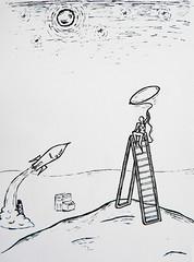 Carona! (Tonilustra) Tags: ride rocket universe carona mochileiro foguete