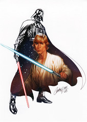 Luke Skywalker postcard by J. Scott Campbell (FranMoff) Tags: starwars postcards darthvader lukeskywalker campbell jscottcampbell