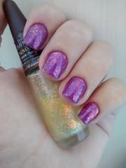 O Boticário - Lilac Cream + Impala - Love Story (villasboas.lorena) Tags: purple o nail polish impala roxo boticário esmalte flocado flakies