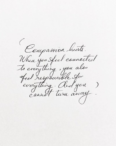 Words By Andrew Boyd In Your Average Biro Handwriting Andrewboyd Dailyafflictions Compassion