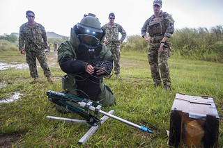 Explosive Disposal Team Works with Republic of Korea Military