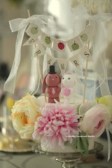 bunny and rabbit with cake banner Wedding Cake Topper (charles fukuyama) Tags: wedding weddingcaketopper weddingcake cute animalscaketopper handmadecaketopper custom claydoll sculpted brideandgroom bridalbouquet bridalveil ceremony gift kikuike coelho conejo ウサギ hase lapin
