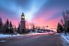 Sunrise on Winter Solstice - 2016 [Explored] (WherezJeff) Tags: 2016 stalbert sunrise winter longexposure solstice alberta canada ca clocktower perron urban