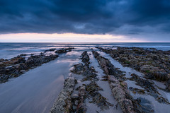 Who is Out There (b.pedlar) Tags: rocks sea water atlantic sand sunset bluehour clouds seaweed horizon landscape seascape widemouthbay cornwall
