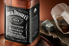 Jack Daniels on the rocks (ematurriphoto) Tags: jackdaniels whiskey beverage still life photoshop glass wood barrel postproduction commercial advertising