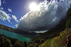 banks 4b (Bilderschreiber) Tags: cloud wolke banks peninsula new neuseeland newzealand southisland südinsel track walk weg way sun sonne weather wide angle weitwinkel
