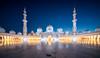 Religious Symmetry (hpd-fotografy) Tags: abudhabi grandmosque sheikhzayed uae architecture bluehour religion white