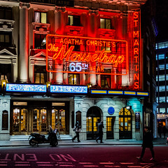 Institution (JB_1984) Tags: themousetrap agathachristie stmartinstheatre theatre arts entertainment sign streetphotography people person night westend theatreland squareformat cityofwestminster london england uk unitedkingdom