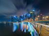 Starlight (Bernard Yeo) Tags: citylights jubileebridge movingclouds singapore starburst urban voigtlanderslii2035asphericalcolorskopar