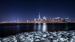 Lower Manhattan from Jersey City (-> LorenzMao <- Catching up) Tags: httpwwwlorenzmaophotographycom manhattan lowermanhattan nikon nikond750 nightphotography nightlights newyork snow tamron1530mm tamron1530mmf28vc tamronlens tallbuilding tamron water winter usa clearsky bluesky building bluehour newyorkskyline newyorkcity