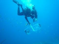 P1050617 (jirkahronik) Tags: autoupload dominica soufriere diving checksum59d40c377b149d51917874d219bfef25 diver lionfish underwater