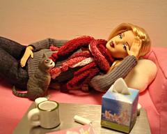 Tag Game: You're not well, I'll take care of you (Deejay Bafaroy) Tags: barbie fashionistas mattel doll puppe judedeveraux diorama 16 scale playscale miniature miniatur madetomove mtm body körper cat kitty katze kätzchen mug tasse boxoftissue tempobox taggame yourenotwellilltakecareofyou