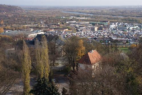Giełda w Sandomierzu z Bramy Opatowskiej