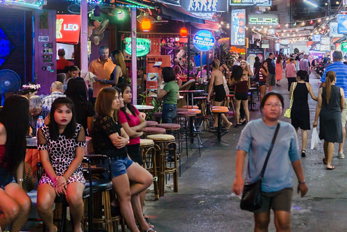 A bar street in Hua Hin