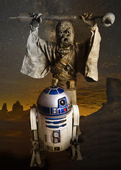 Tusken Raider and R2D2