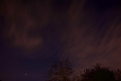 first night shot (kimcull) Tags: stars night movingclouds