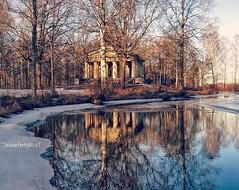The Greek Temple, Söderfors (Tankartartid) Tags: water winter sweden reflections greektemple temple