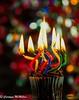 Happy 10 Years!!!- Macro Mondays (Carolynn McMillan) Tags: macromondays happy10years candles celebration cupcake bokeh