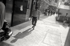 (David Davidoff) Tags: life street walking blackwhite human analogue lightshadow spectacle
