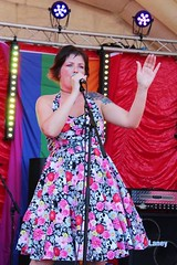 """Sarah Q looking fab on Stage at Plymouth Pride 2015 - Plymouth Hoe • <a style=""""font-size:0.8em;"""" href=""""http://www.flickr.com/photos/66700933@N06/20605208856/"""" target=""""_blank"""">View on Flickr</a>"""