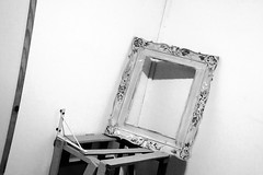 A Frame in the Corner (Claudio Beck) Tags: blackandwhite bw art strange composition contrast corner square angle box perspective filter frame oilpaint