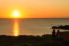 Godrevy Cornwall (bawden_mark) Tags: ocean sunset sea summer sky cliff colour clouds canon evening seaside cornwall outdoor shoreline cliffs granite organic tamron godrevy conwall canon500d tamron18270mm