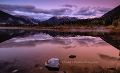 Sunrise at Vermillion Lake, Canada (chasingthelight10) Tags: travel mist canada photography landscapes events places things banffnationalpark canadianrockies vermilionlake