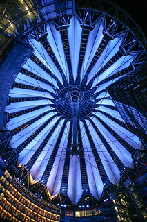 Sony Center by night