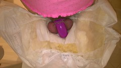 Tena Ultima Overnight Diapering in Chastity (Nikki_E-Chastity) Tags: wet belt cage diaper cover diapers dl maxima chastity tena abdl chastised diaperlover steelworxx