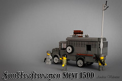 Kfz.17 Steyr 1500 Funkkraftwagen (radio truck) (kr1minal) Tags: world 2 war lego bricks nazi wwii german custom moc brickmania legouli