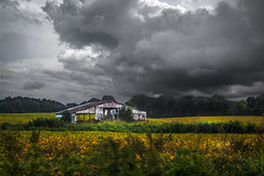 Cloudy With a Chance of Thunderstorms (Elizabeth_211) Tags: sky storm abandoned clouds barn landscape tennessee 6d jacksontn 24105mm westtn sherielizabeth
