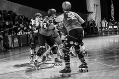 rebels_vs_panic_L1063734 1 (nocklebeast) Tags: ca usa santacruz rollerderby rollergirls zombies vampires skates organicpanic santacruzderbygirls redwoodrebels